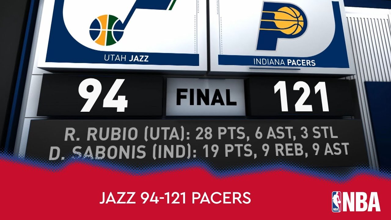 Utah Jazz 94-121 Indiana Pacers