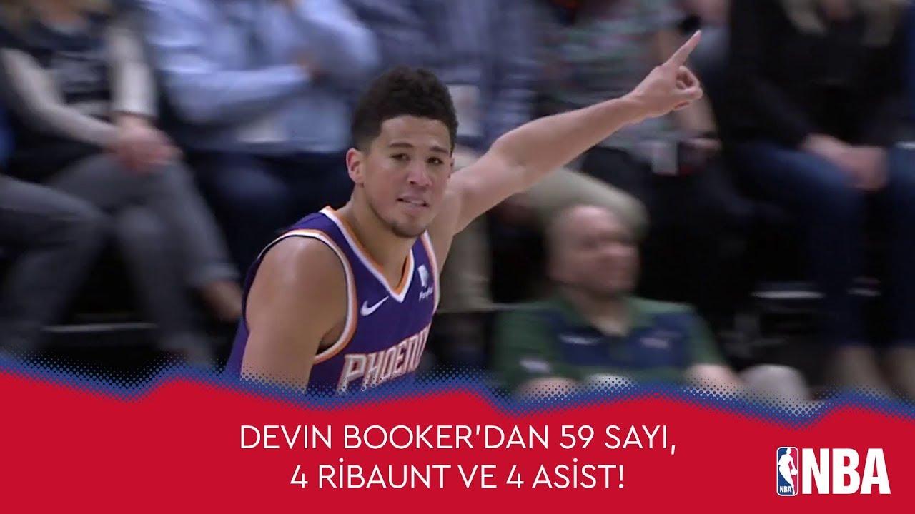 Devin Booker'dan 59 Sayı, 4 Ribaunt ve 4 Asist!