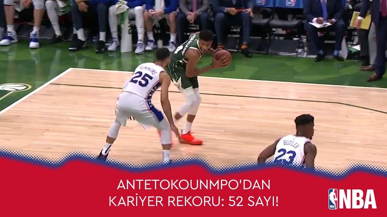 Giannis Antetokounmpo'dan Kariyer Rekoru: 52 Sayı!