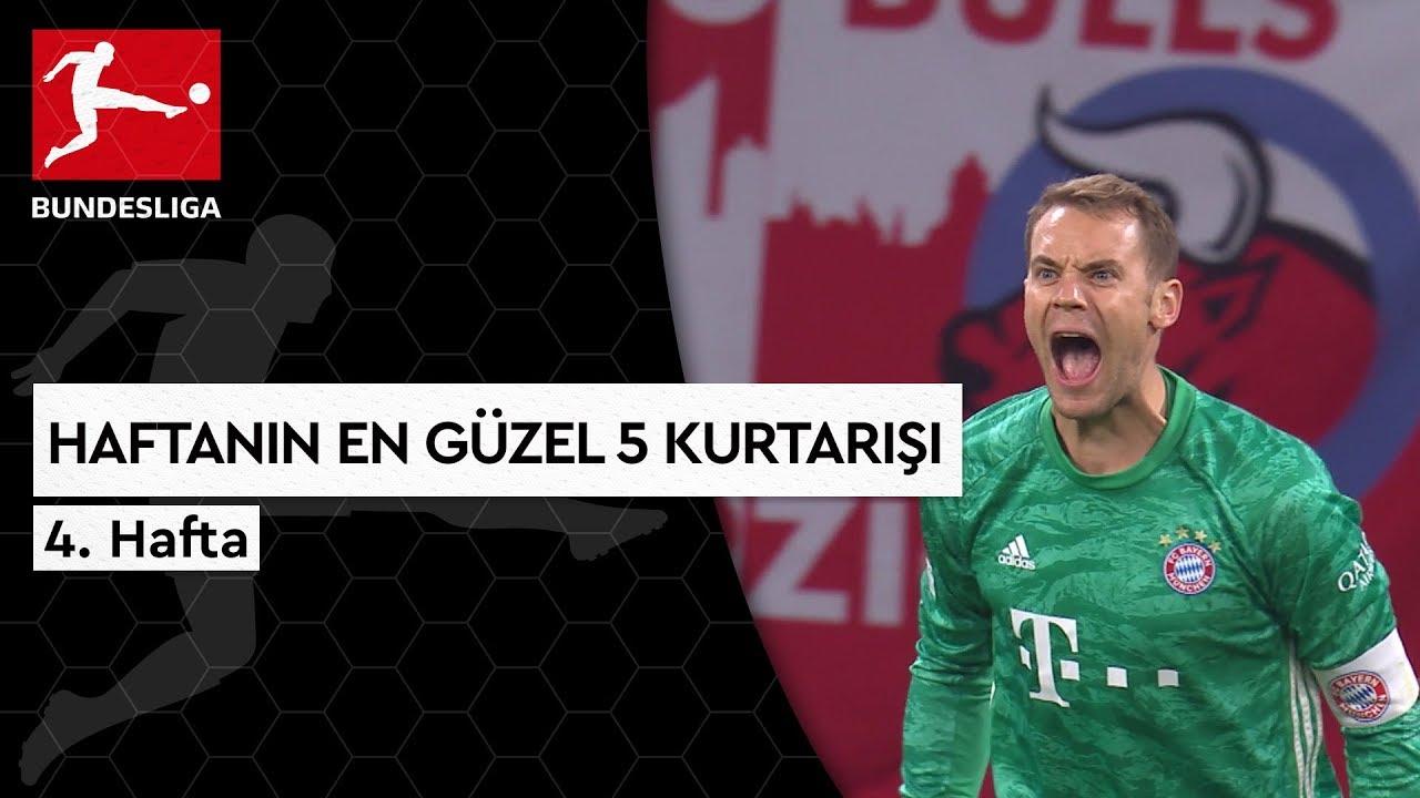 Bundesliga'da 4. Haftanın En Güzel 5 Kurtarışı (2019/20)