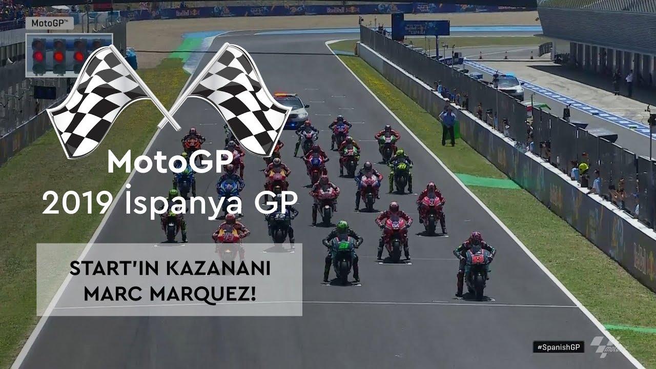 Start'ın Kazananı Marc Marquez! (MotoGP 2019 - İspanya Grand Prix)