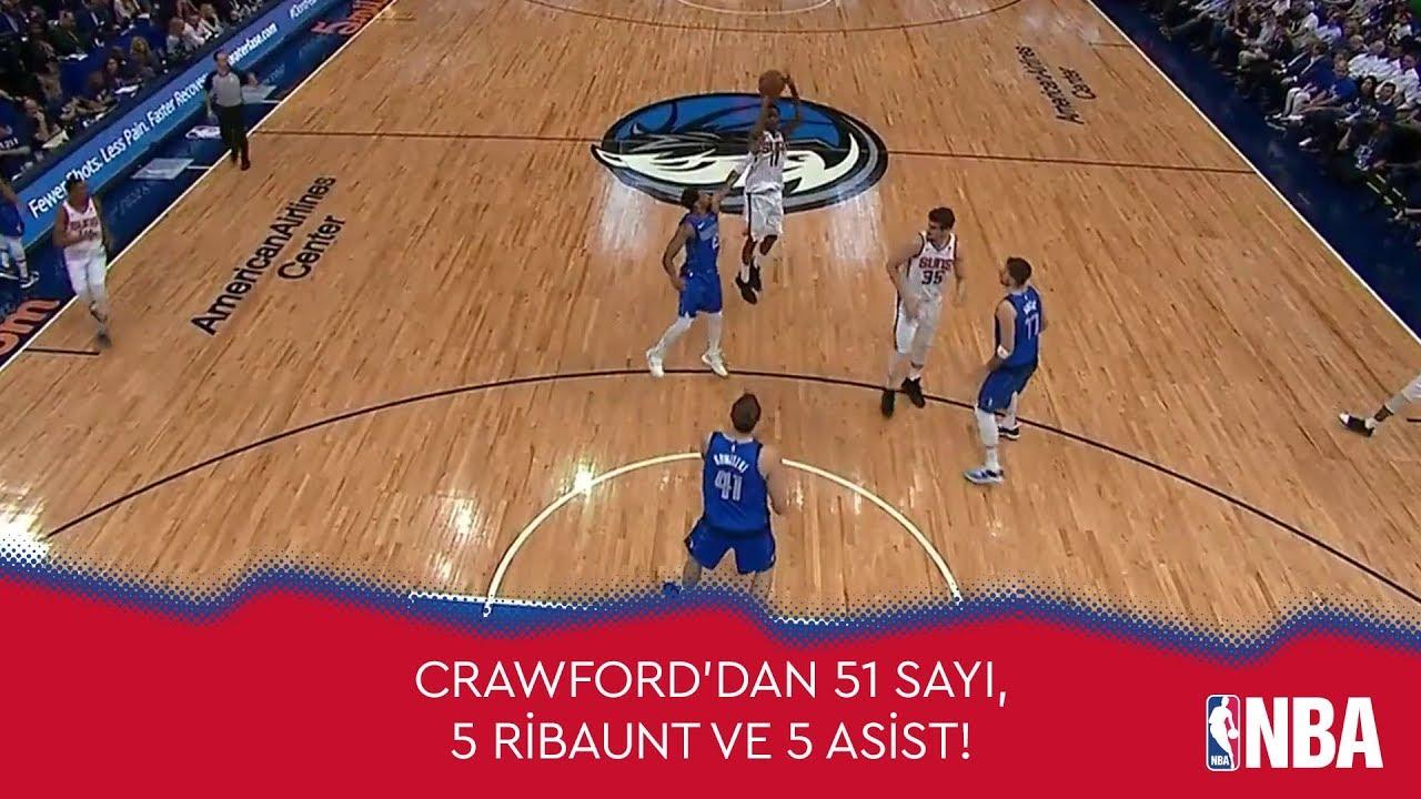 39 Yaşındaki Crawford'dan 51 Sayı!