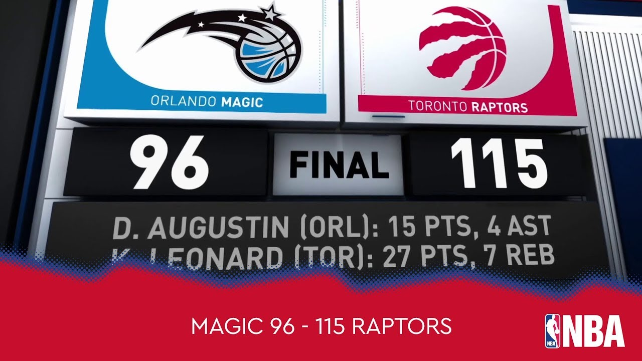 Orlando Magic 96 - 115 Toronto Raptors