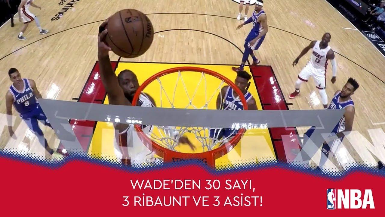 Wade'den Son İç Saha Maçında 30 Sayı!