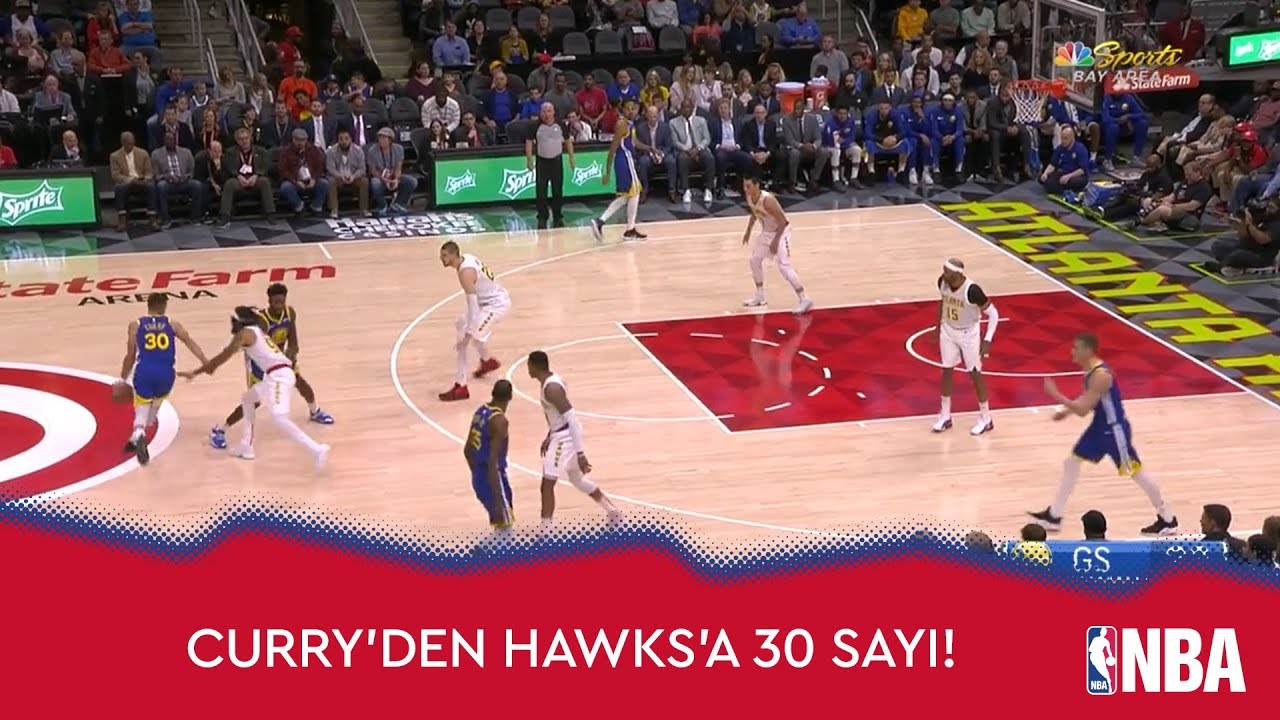 Stephen Curry'den Hawks'a 30 Sayı!
