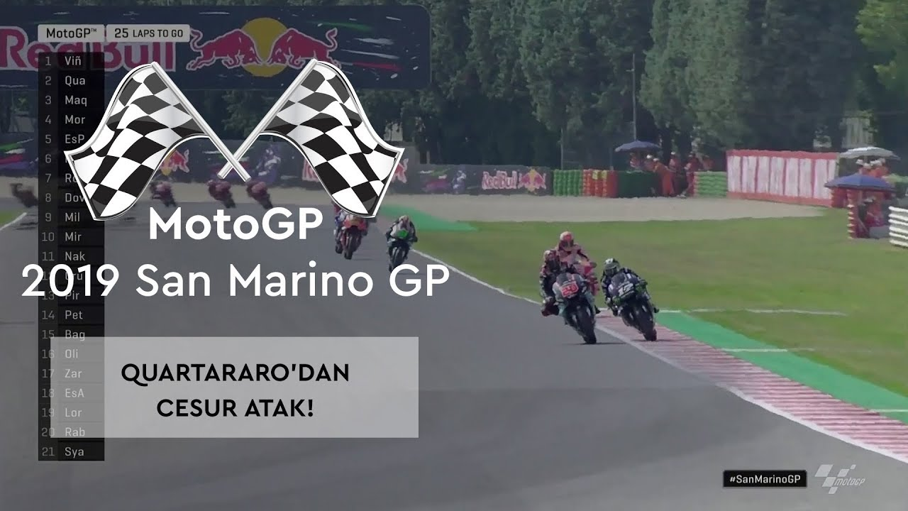 Quartararo'dan Cesur Atak! (MotoGP 2019 - San Marino Grand Prix)