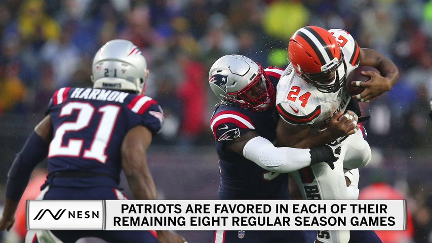 Patriots Favored In Every Remaining Game, 49ers Favored In Seven Of Nine