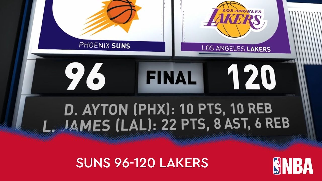 Phoenix Suns 96-120 Los Angeles Lakers