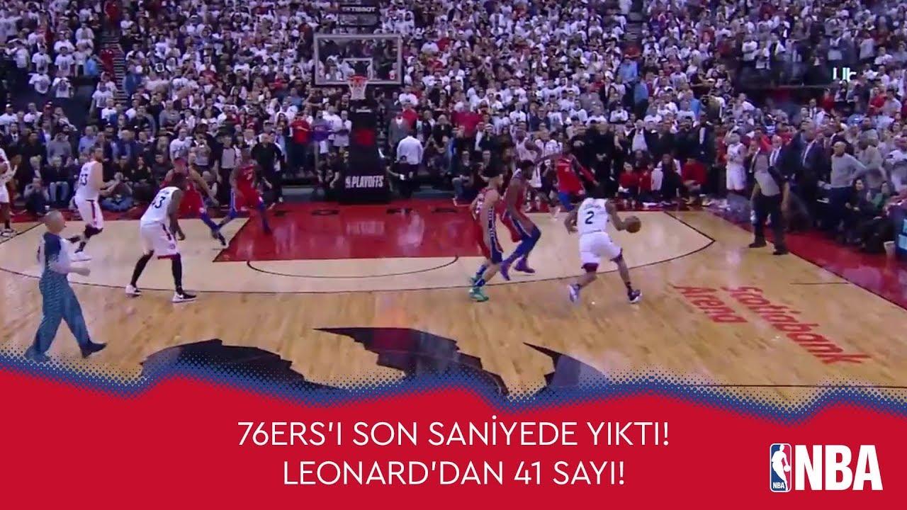 Leonard, 76ers'ı Son Saniyede Yıktı! (41 Sayı, 8 Ribaunt ve 3 Asist)