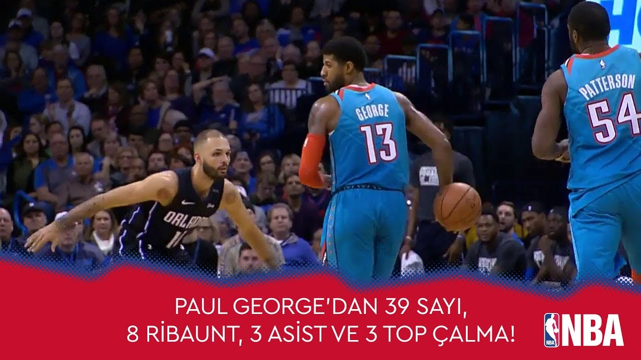 Paul George'dan 39 Sayı, 8 Ribaunt, 3 Asist ve 3 Top Çalma!