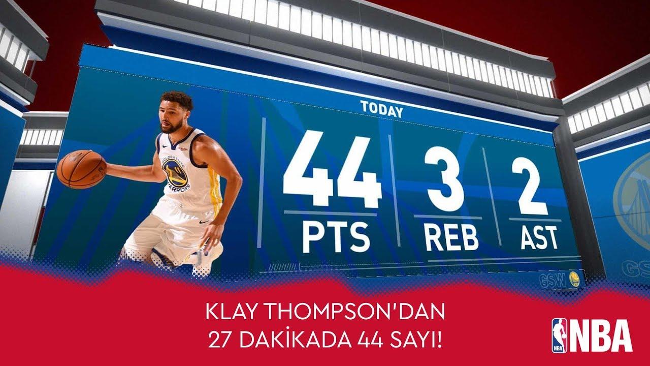 Klay Thompson'dan 27 Dakikada 44 Sayı!