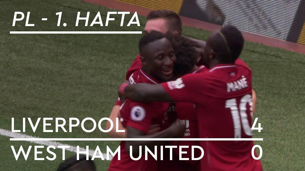 Liverpool - West Ham (4-0) - Maç Özeti - Premier League 2018/19