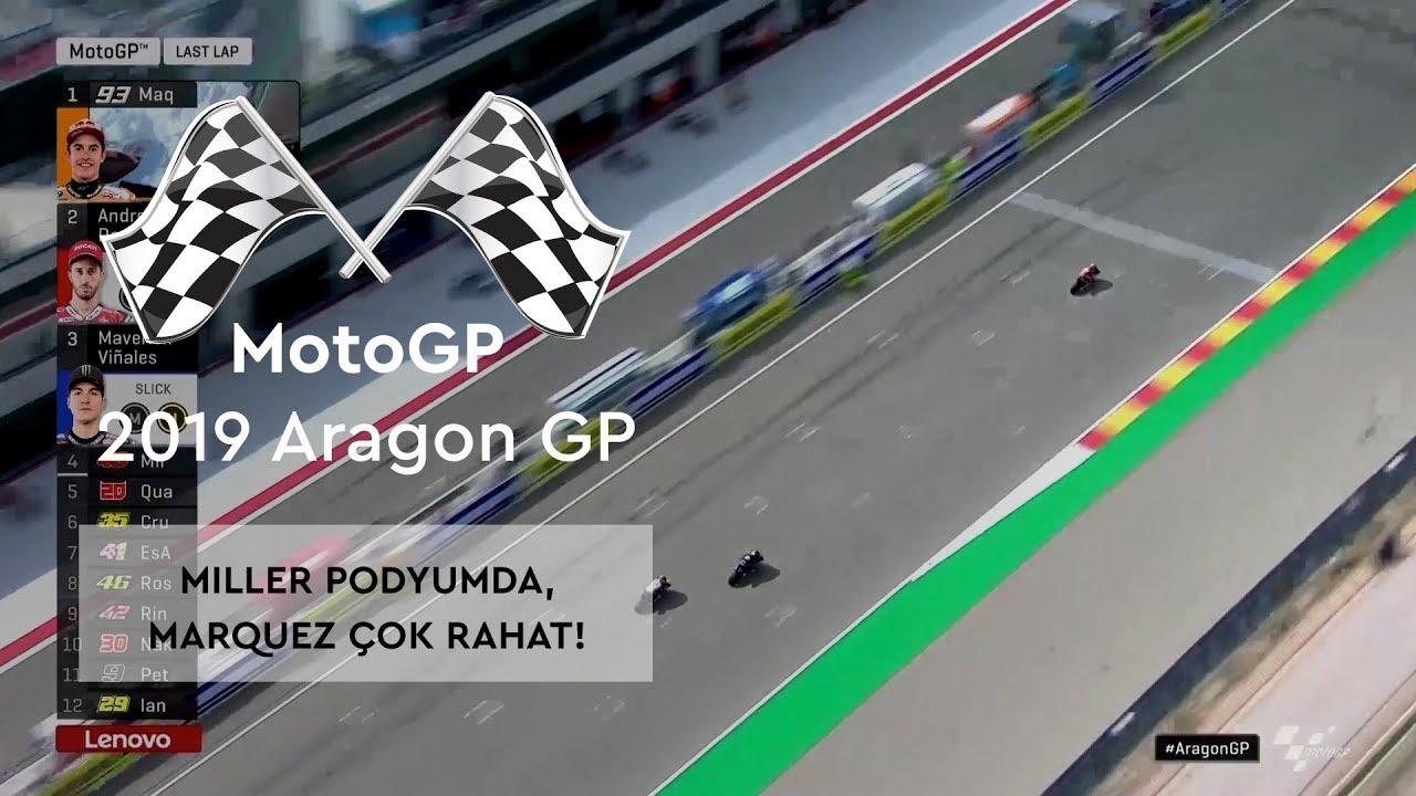 Miller Podyumda, Marquez Çok Rahat! (MotoGP 2019 - Aragon Grand Prix)