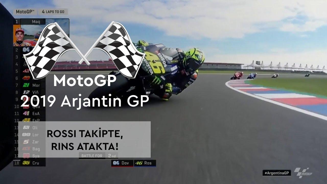Rossi Takipte, Rins Atakta! (MotoGP 2019 - Arjantin Grand Prix)