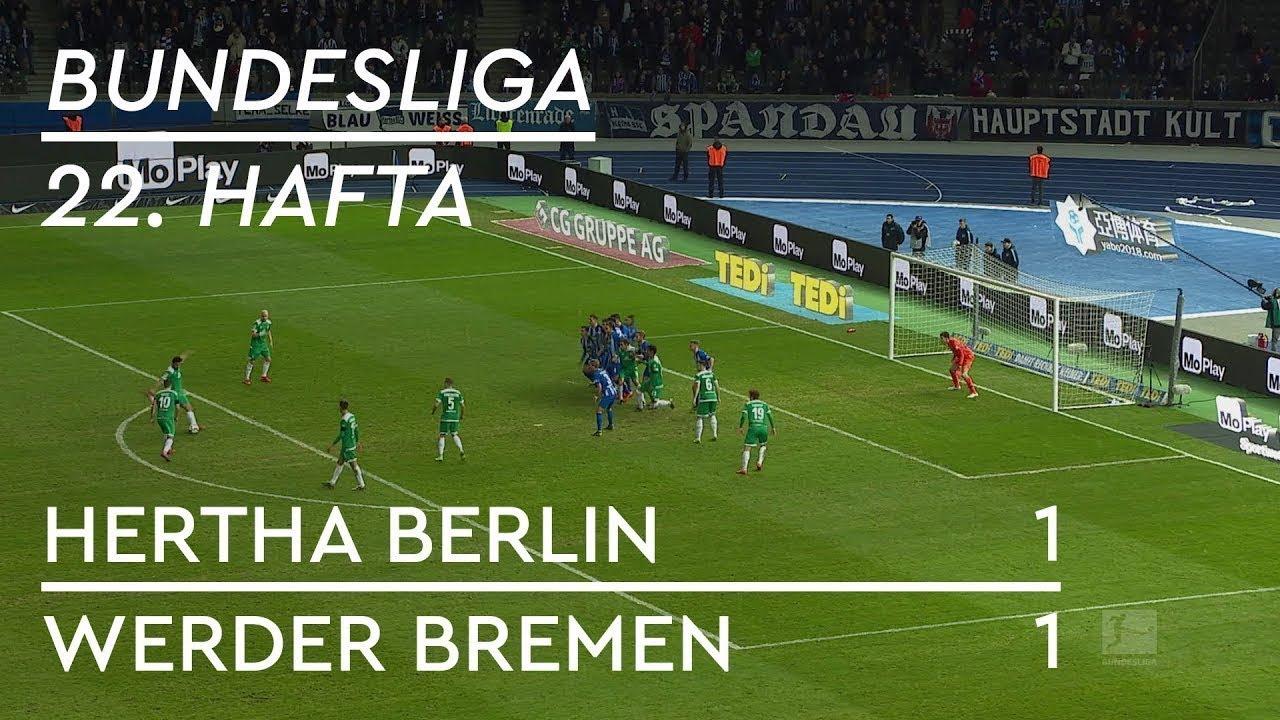 Hertha Berlin - Werder Bremen (1-1) - Maç Özeti - Bundesliga 2018/19 - Türkçe Anlatım