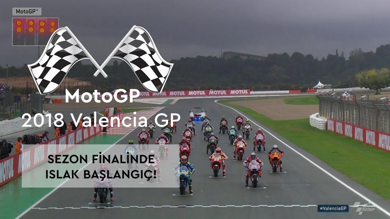 Sezon Finaline Islak Başlangıç! (MotoGP 2018 - Valencia Grand Prix)