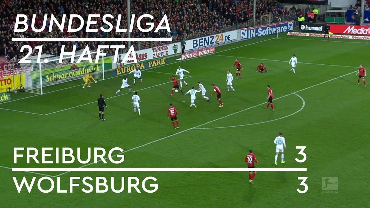 Freiburg -  Wolfsburg (3-3) - Maç Özeti - Bundesliga 2018/19