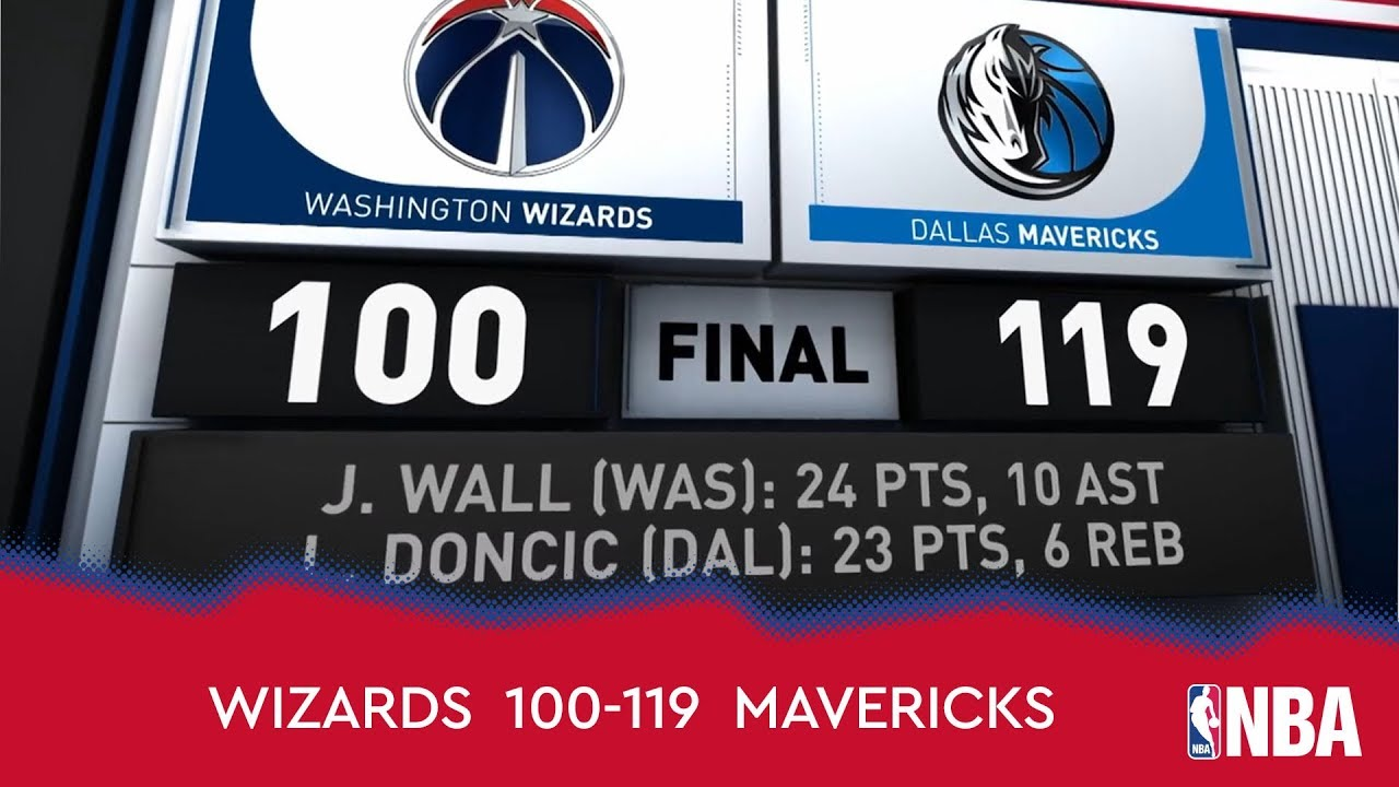 Washington Wizards 100-119 Dallas Mavericks