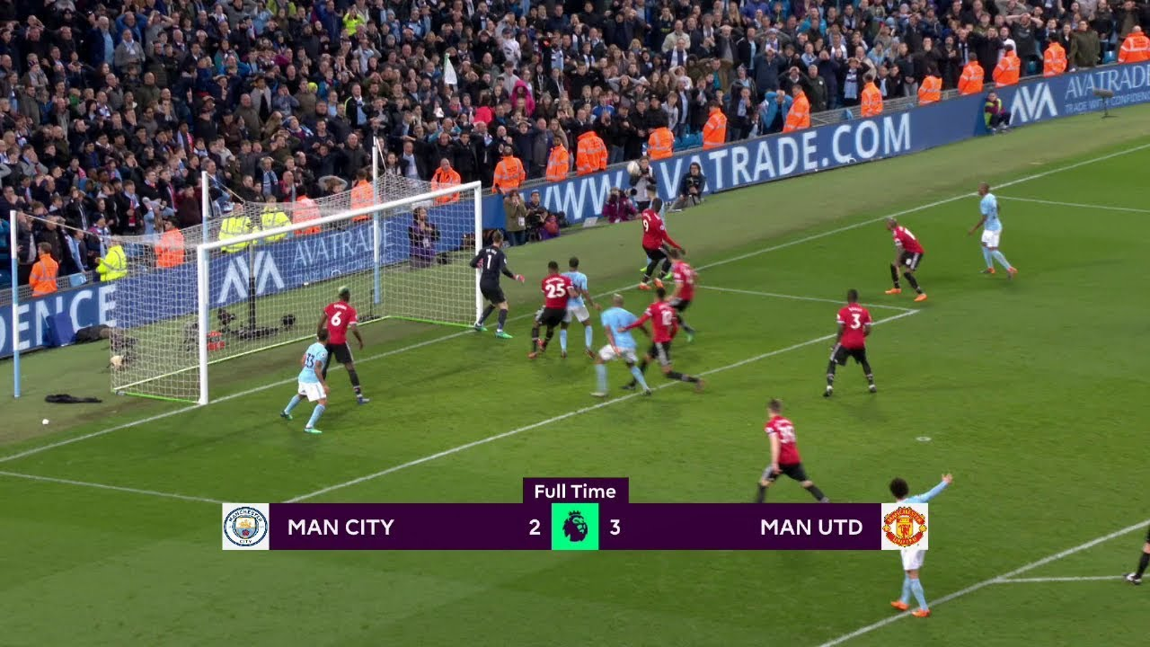 Manchester City - Manchester United (2-3) - Maç Özeti - Premier League 2017/18