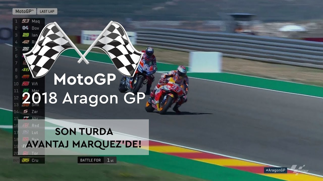 Son Turda Avantaj Marquez'in! (2018 MotoGP - Aragon Grand Prix)