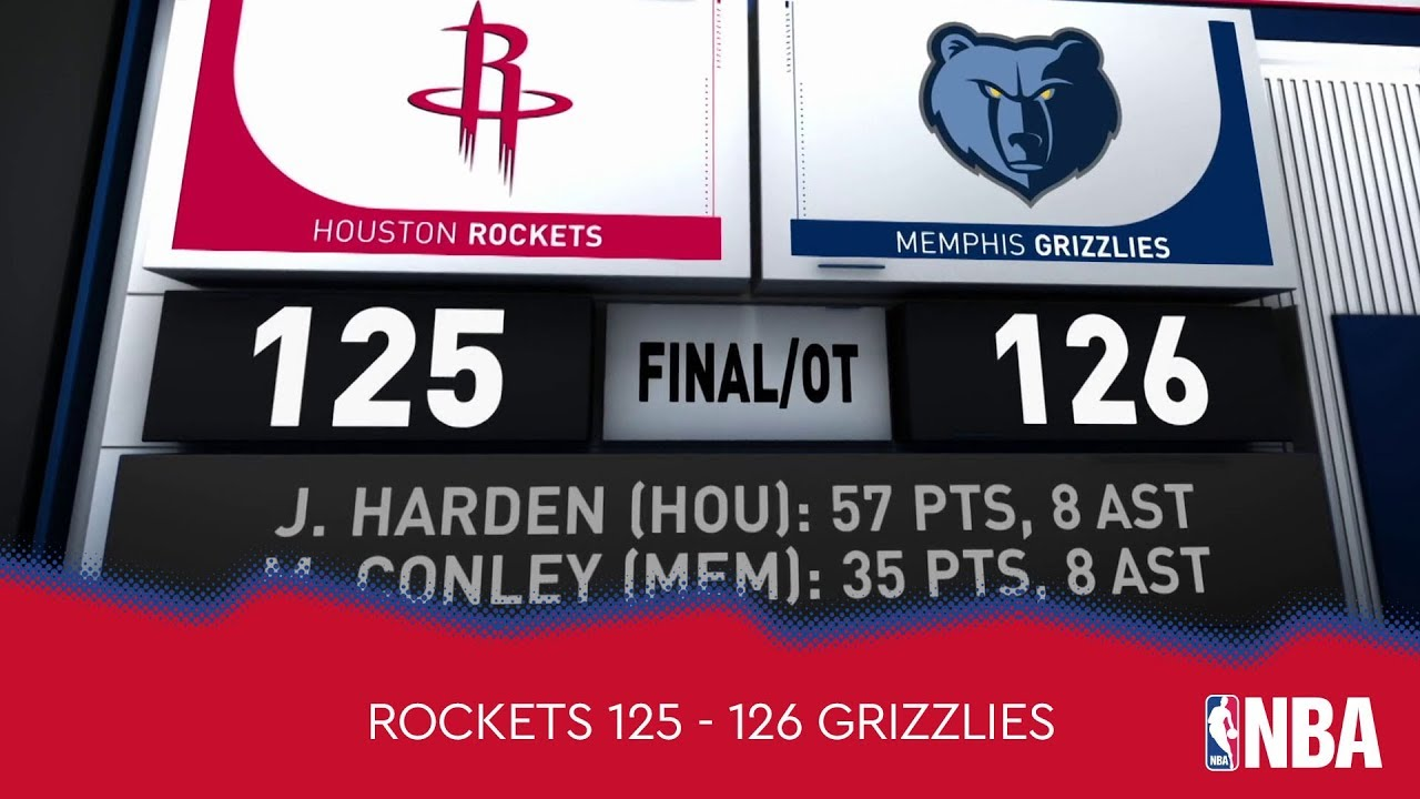 Houston Rockets 125 - 126 Memphis Grizzlies