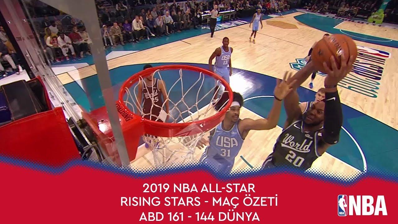 NBA All-Star 2019 Yükselen Yıldızlar Maç Özeti | ABD 161 - 144 Dünya