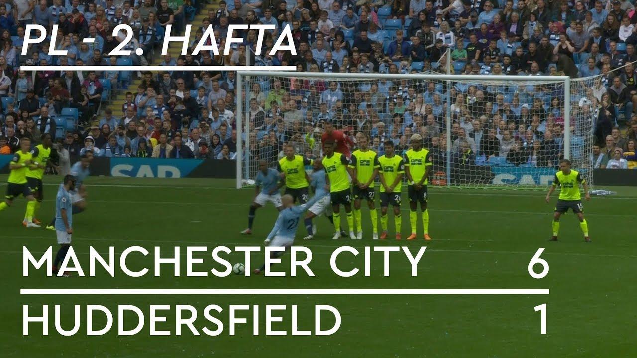 Manchester City - Huddersfield (6-1) - Maç Özeti - Premier League 2018/19