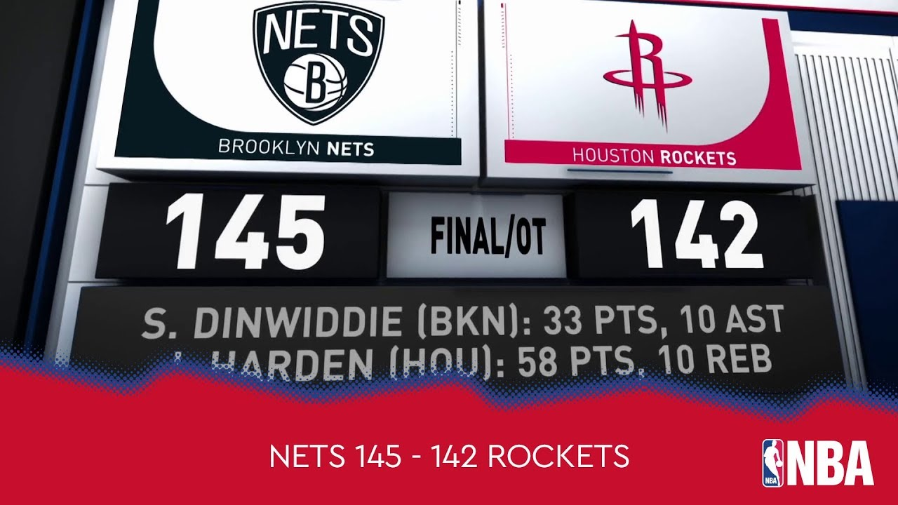 Brooklyn Nets 145 - 142 Houston Rockets