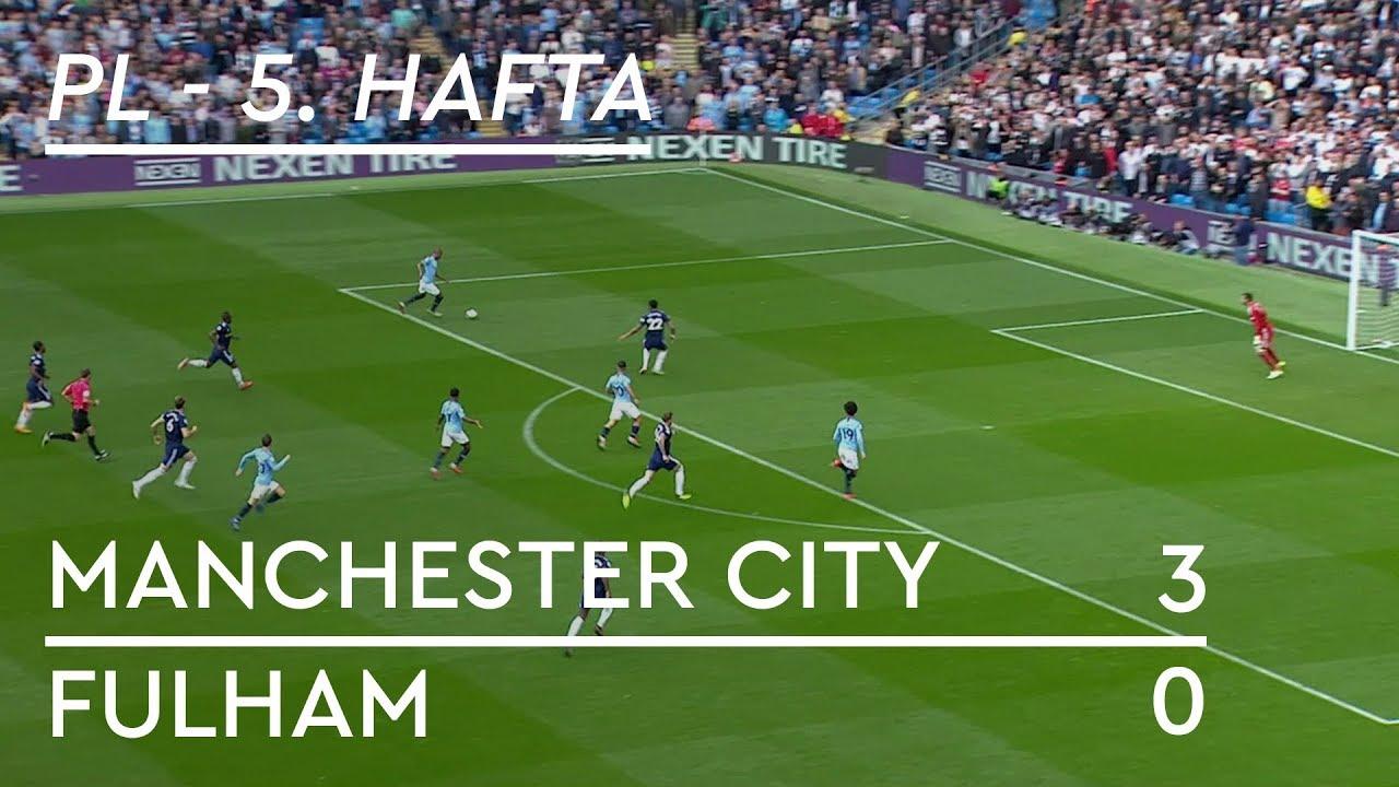 Manchester City - Fulham (3-0) - Maç Özeti - Premier League 2018/19