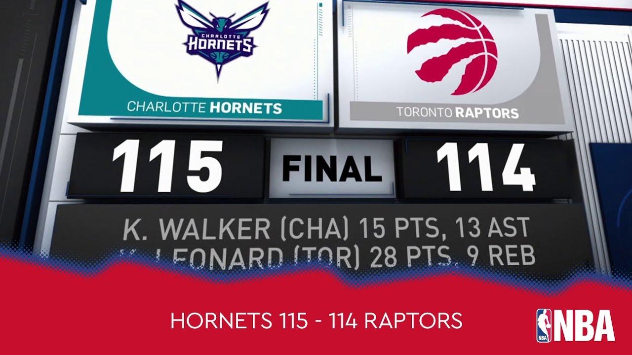 Charlotte Hornets 115 - 114 Toronto Raptors