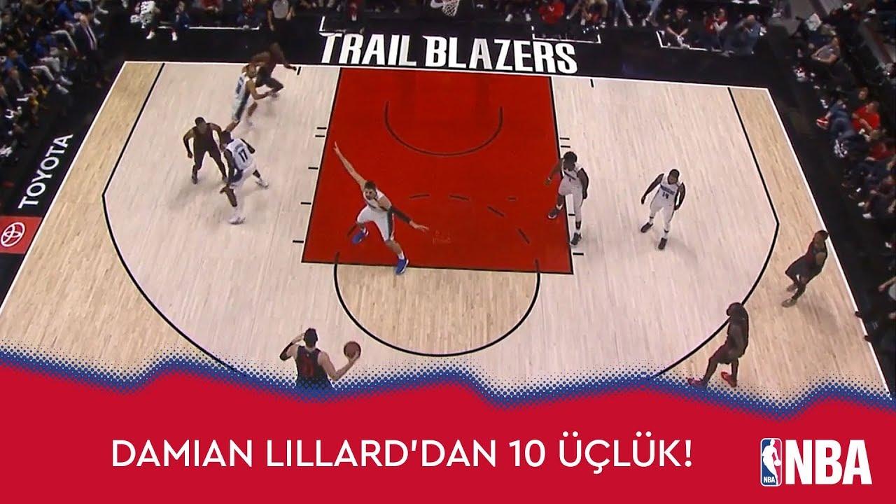Damian Lillard'dan 10 Üçlük!