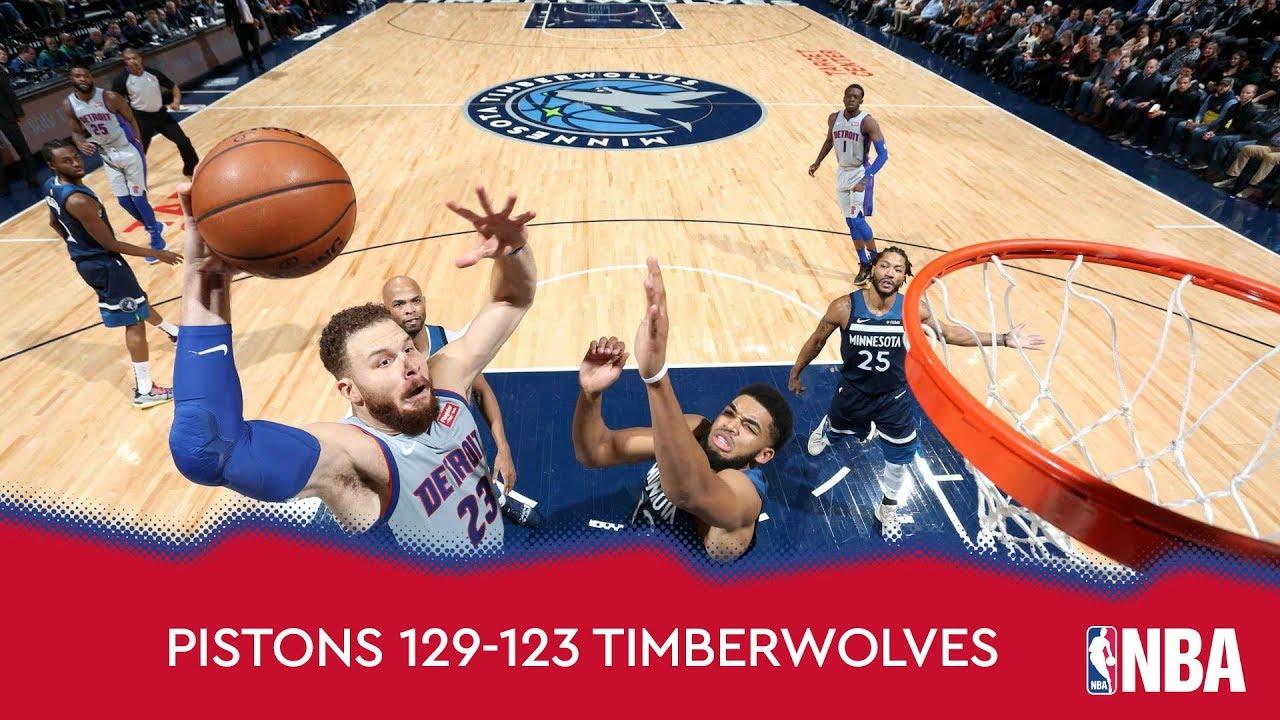 Detroit Pistons 129-123 Minnesota Timberwolves