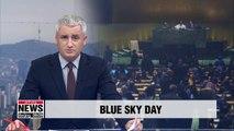 UN to designate November 15 as 'Blue Sky Day' beginning next year after S. Korea's proposal