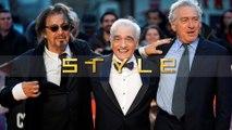 EXCLUSIVE: Robert De Niro, Al Pacino and Martin Scorsese on the red carpet for The Irishman at LFF