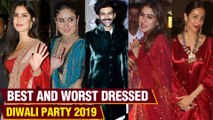 Bollywood BIGGEST Diwali Bash 2019 | BEST & WORST Dressed | Sara, Kareena, Kartik, Shahid - Mira