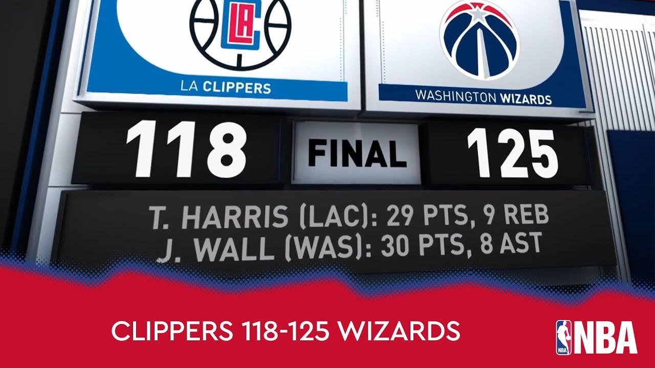 Los Angeles Clippers 118-125 Washington Wizards