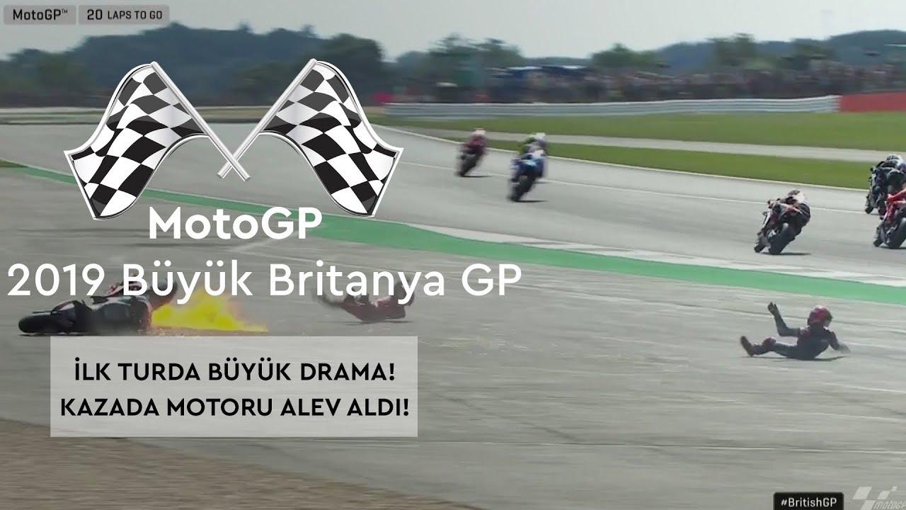 İlk Turda Büyük Drama! (MotoGP 2019 - Büyük Britanya Grand Prix)