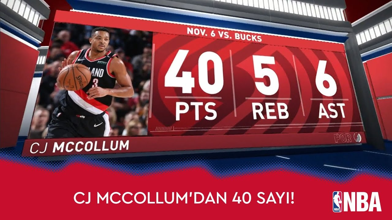 CJ McCollum'dan 40 Sayı!