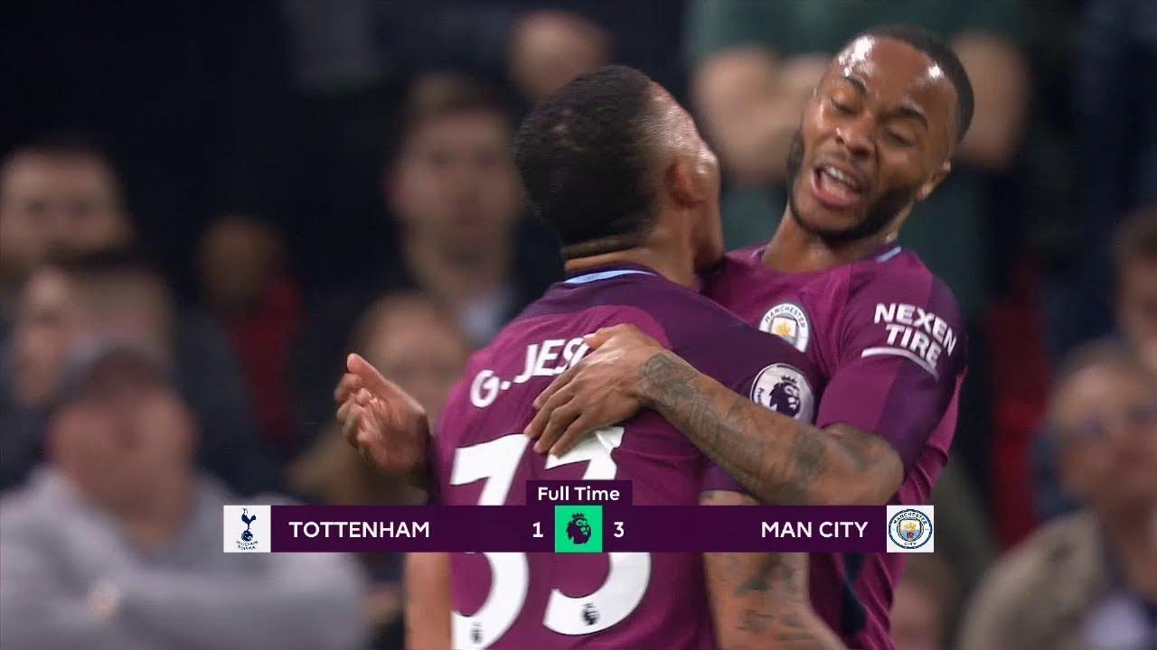 Tottenham - Manchester City (1-3) - Maç Özeti - Premier League 2017/18