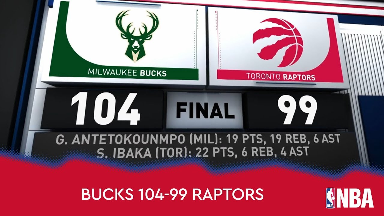 Milwaukee Bucks 104--99 Toronto Raptors