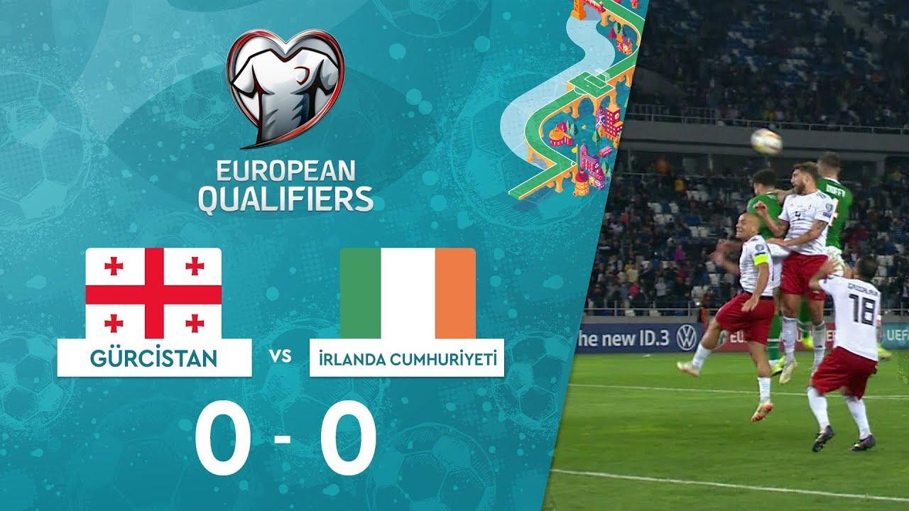 Gürcistan 0-0 İrlanda Cumhuriyeti | EURO 2020 Elemeleri Maç Özeti - D Grubu