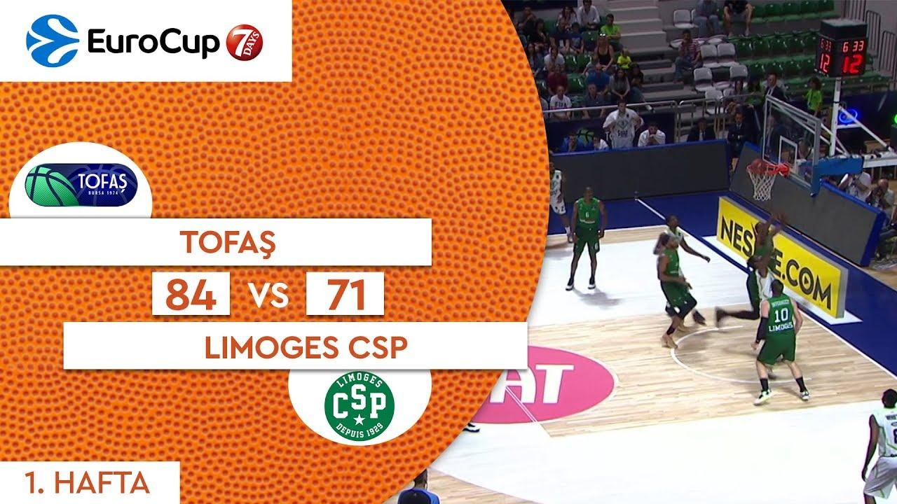 Tofaş 84 - 71 Limoges CSP | Maç Özeti - EuroCup 1. Hafta