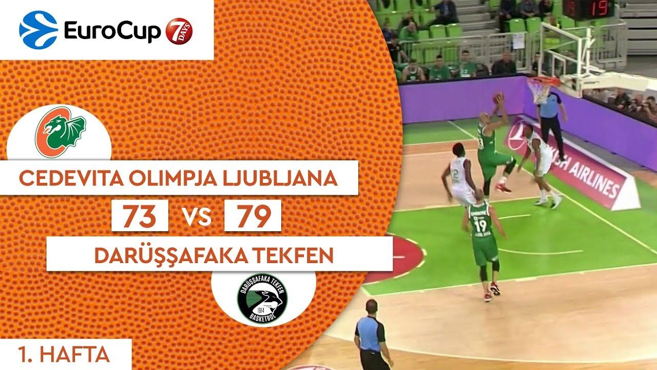 Cedevita Olimpja Ljubljana 73 - 79 Darüşşafaka Tekfen | Maç Özeti - EuroCup 1. Hafta