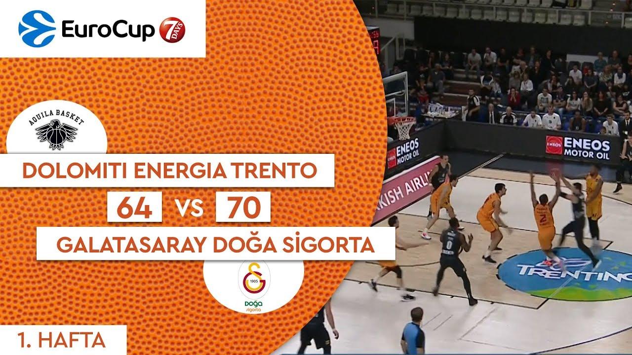 Dolomiti Energia Trento 64 - 70 Galatasaray Doğa Sigorta | Maç Özeti - EuroCup 1. Hafta