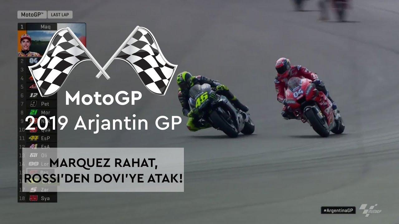 Marquez Rahat, Rossi'den Dovizioso'ya Atak! (MotoGP 2019 - Arjantin Grand Prix)