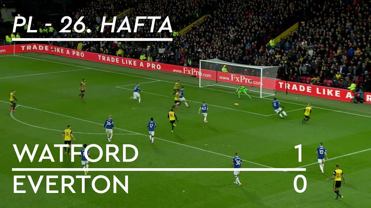 Watford - Everton (1-0) - Maç Özeti - Premier League 2018/19