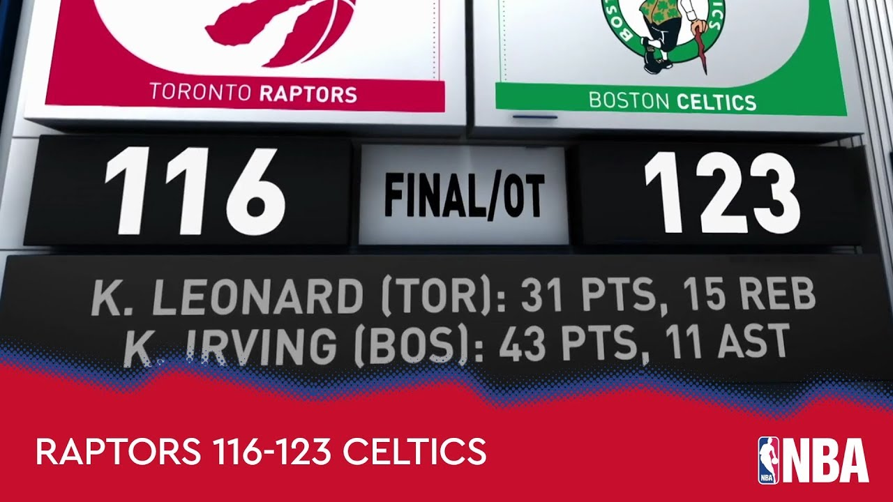 Toronto Raptors 116-123 Boston Celtics