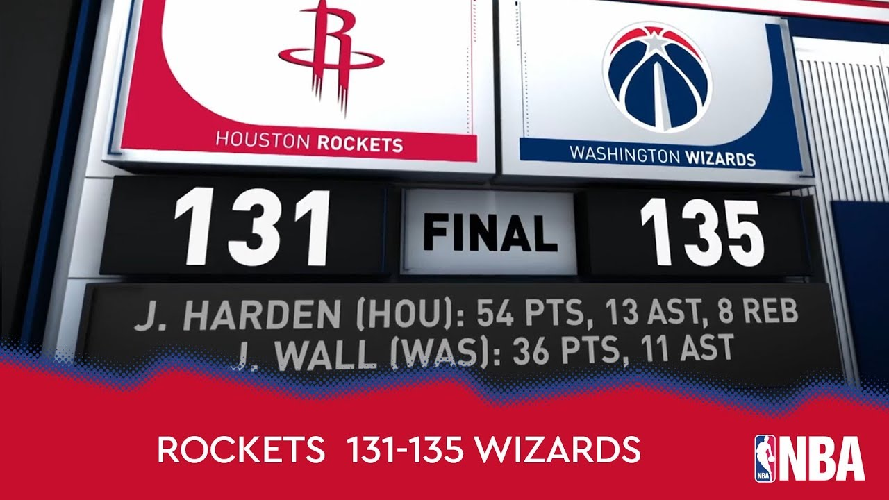 Houston Rockets 131-135 Washington Wizards