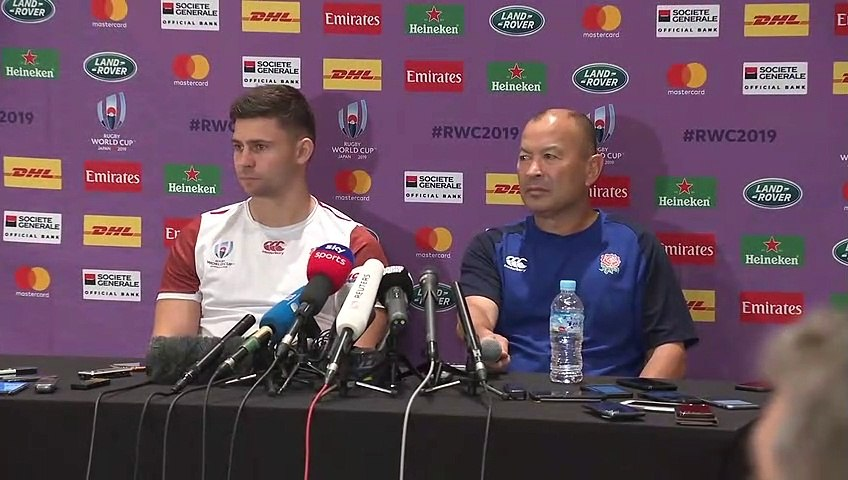 Eddie Jones and Ben Youngs press conference - Rugby World Cup 2019