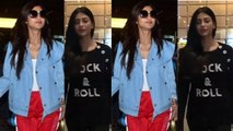 Spotted Shilpa Shetty with her family & Shruti Haasan at the airport
